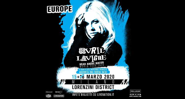 Avril Lavigne in concerto a Milano