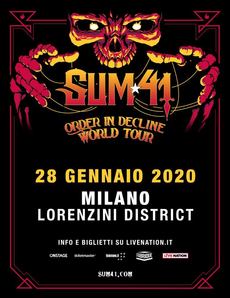 Sum 41 in concerto a Milano