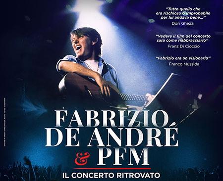Fabrizio De André e PFM al cinema con Il concerto ritrovato