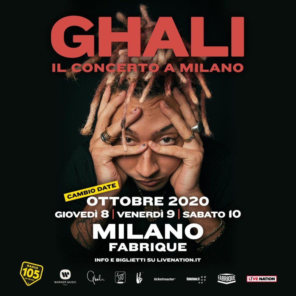 Ghali in concerto a Milano