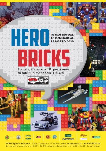 Mostra Hero Bricks al Museo del Fumetto di Milano