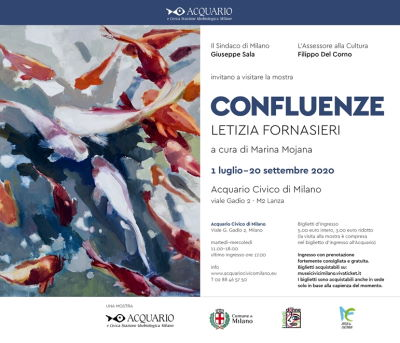 Mostra Confluenze di Letizia Fornasieri - Acquario Civico di Milano