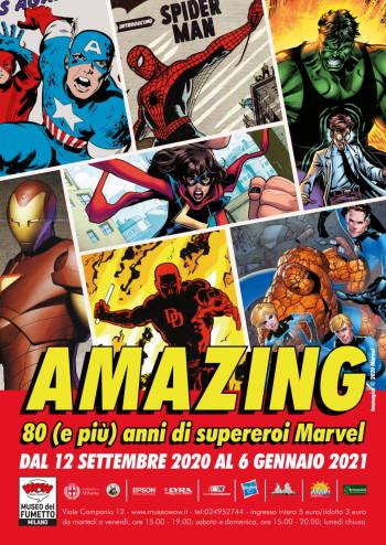 Amazing, 80 (e più) anni di supereroi Marvel al Museo del Fumetto di Milano