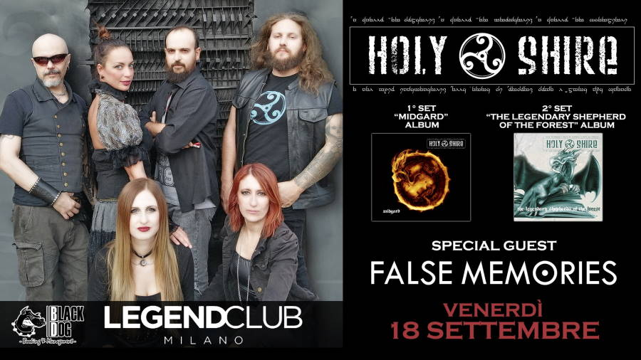 Holy Shire e False Memories live a Legend Club di Milano