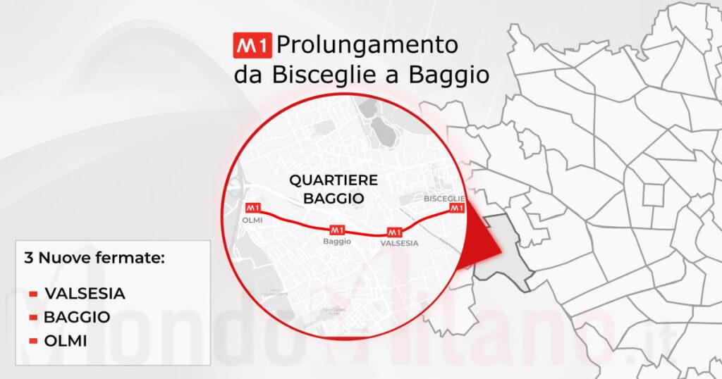 Metro M1 - Prolungamento da Bisceglie a Baggio