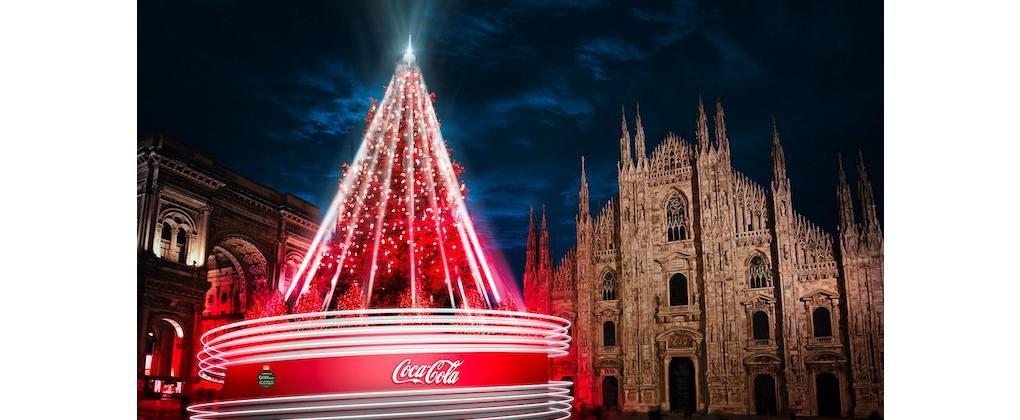 Milano Natale 2020 - Albero Coca-Cola piazza Duomo