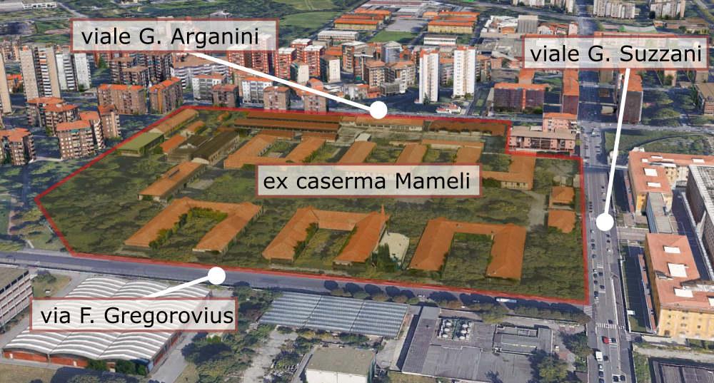 """ex caserma Mameli - viale Suzzani Milano (quartiere """"Nuguarda - Ca' Granda"""")"""