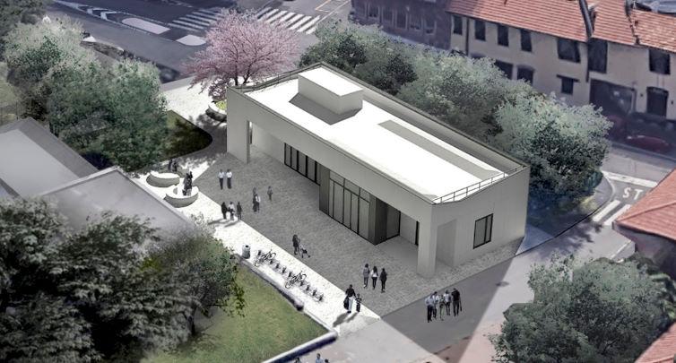 Biblioteca Baggio Milano - rendering nuovo padiglione
