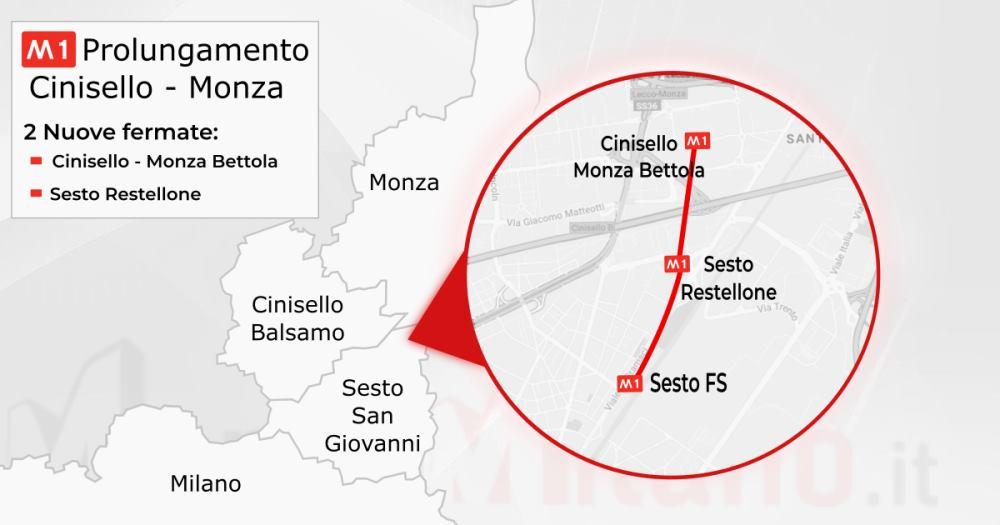 M1 Prolungamento Cinisello - Monza Bettola